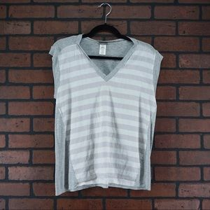 ANTHROPOLOGIE l.d. by line dry Striped Linen Top S